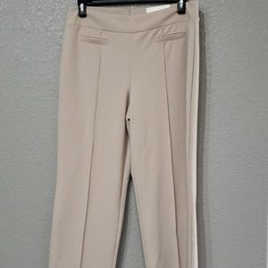Womens pull-on stretch pants tan size medium avg